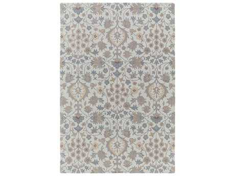 Surya Castille Rectangular Gray Area Rug