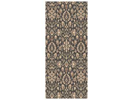 Surya Castille 2'6'' x 8' Rectangular Chocolate Runner Rug