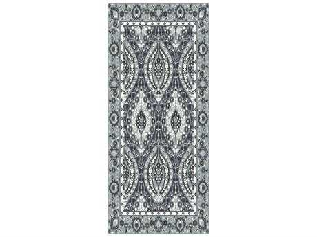 Surya Castille 2'6'' x 8' Rectangular Light Gray & Teal Runner Rug