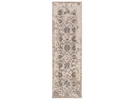 Surya Castille 2'6'' x 8' Rectangular Khaki, Dark Brown & Denim Runner Rug