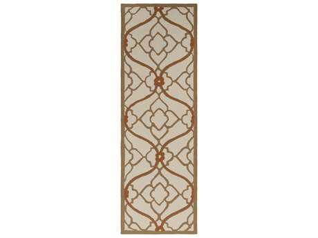 Surya Courtyard 2'6'' x 8' Rectangular Rust Runner Rug