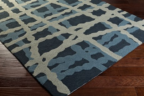 Surya Courtyard Rectangular Navy Area Rug