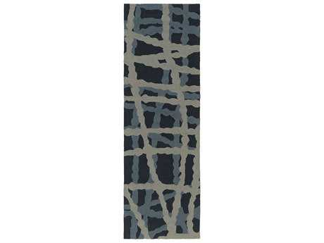 Surya Courtyard 2'6'' x 8' Rectangular Navy Runner Rug
