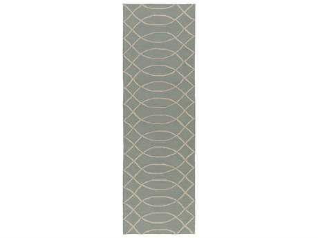 Surya Courtyard 2'6'' x 8' Rectangular Light Gray Runner Rug