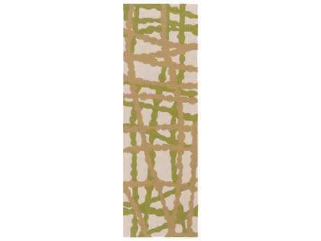 Surya Courtyard 2'6'' x 8' Rectangular Lime Runner Rug