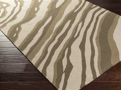 Surya Courtyard Rectangular Beige Area Rug