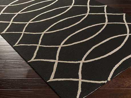 Surya Courtyard Rectangular Charcoal Area Rug