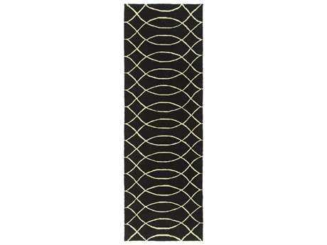 Surya Courtyard 2'6'' x 8' Rectangular Charcoal Runner Rug
