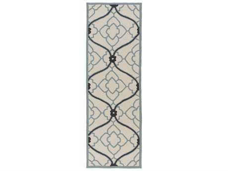 Surya Courtyard 2'6'' x 8' Rectangular Navy Runner Rug