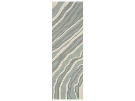 Surya Courtyard 2'6'' x 8' Rectangular Light Gray Runner Rug