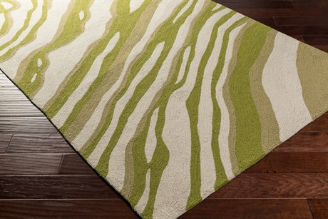Surya Courtyard Rectangular Olive, Grass Green & Khaki Area Rug