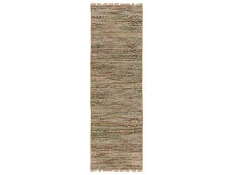 Surya Cove 2'6'' x 8' Rectangular Beige & Forest Runner Rug