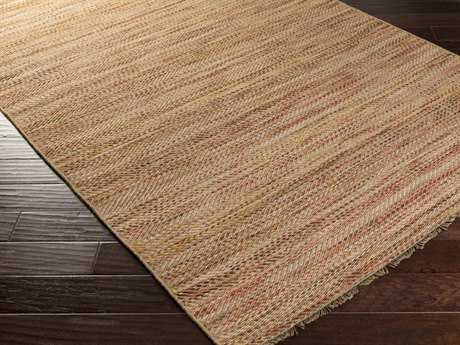 Surya Cove Rectangular Beige & Cherry Area Rug