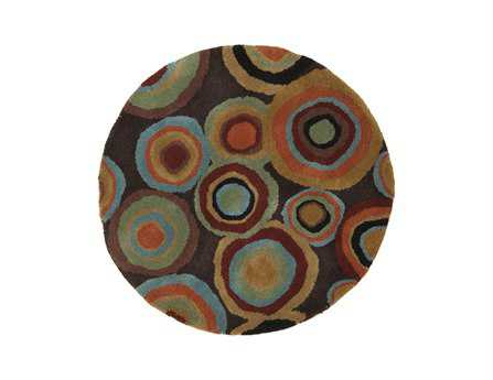 Surya Dazzle Round Brown Area Rug