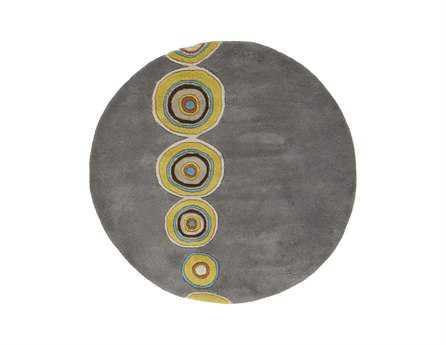 Surya Dazzle Round Gray Area Rug