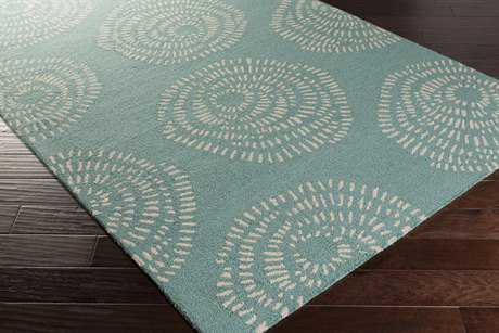 Surya Decorativa Rectangular Teal & Ivory Area Rug