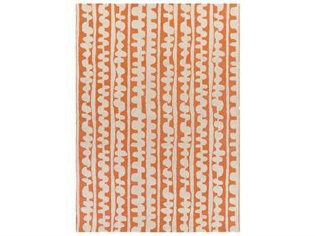 Surya Decorativa Rectangular Burnt Orange & Cream Area Rug
