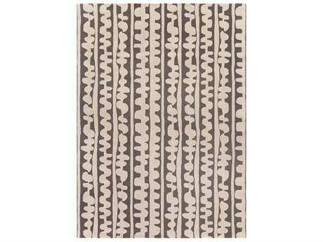 Surya Decorativa Rectangular Dark Brown & Cream Area Rug