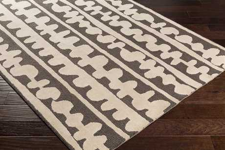 Surya Decorativa Rectangular Dark Brown & Cream Area Rug