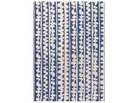 Surya Decorativa Rectangular Dark Blue & Cream Area Rug