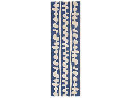 Surya Decorativa 2'6'' x 8' Rectangular Dark Blue & Cream Runner Rug