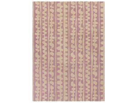 Surya Decorativa Rectangular Bright Pink & Cream Area Rug