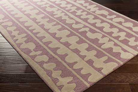 Surya Decorativa Rectangular Bright Pink & Cream Area Rug