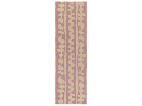 Surya Decorativa 2'6'' x 8' Rectangular Bright Pink & Cream Runner Rug