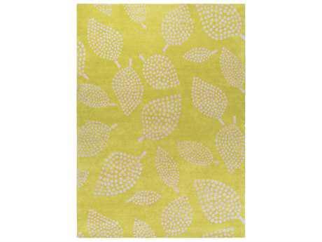 Surya Decorativa Rectangular Lime & Beige Area Rug
