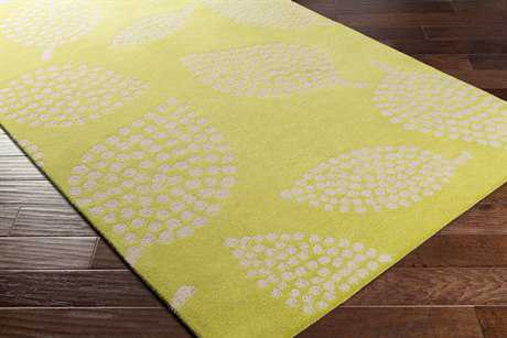 Surya Decorativa Rectangular Lime & Beige Area Rug