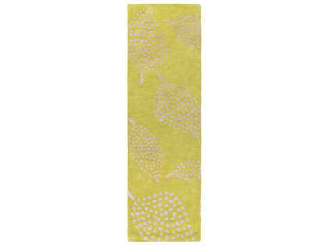Surya Decorativa 2'6'' x 8' Rectangular Lime & Beige Runner Rug