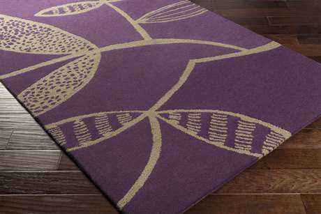 Surya Decorativa Rectangular Dark Purple & Ivory Area Rug