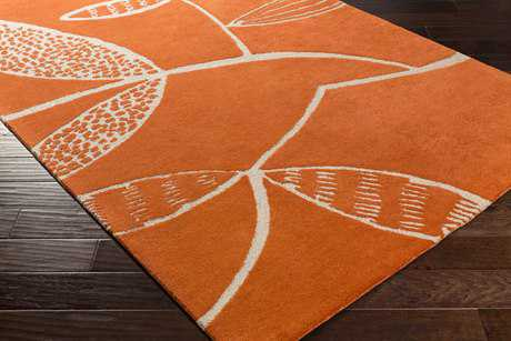 Surya Decorativa Rectangular Burnt Orange & Beige Area Rug