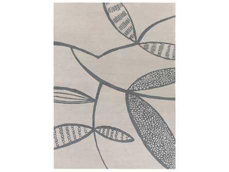 Surya Decorativa Rectangular Light Gray & Black Area Rug