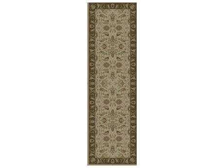 Surya Dinar 2'6'' x 8' Rectangular Olive Runner Rug