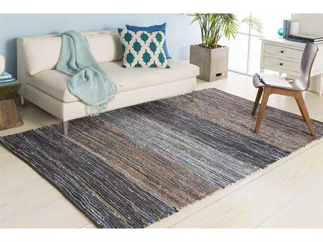 Surya Denim Rectangular Dark Blue & Camel Area Rug