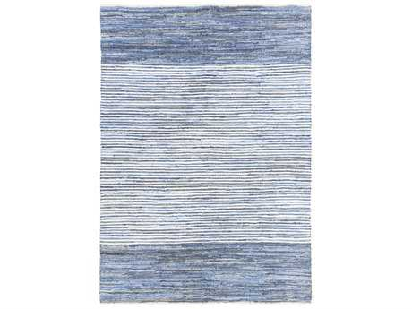 Surya Denim Rectangular Bright Blue & Navy Area Rug