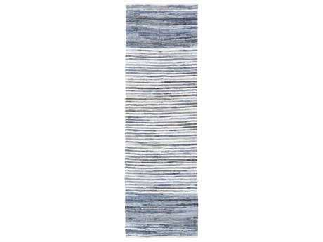 Surya Denim 2'6'' x 8' Rectangular Bright Blue & Navy Runner Rug