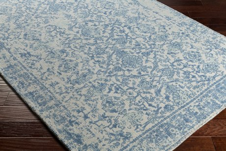 Surya D Orsay Rectangular Ivory, Light Gray & Denim Area Rug