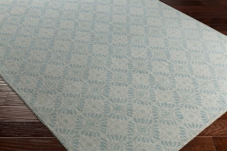 Surya D Orsay Rectangular Sea Foam, Pale Blue & Aqua Area Rug
