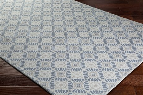 Surya D Orsay Rectangular Ivory, Taupe & Charcoal Area Rug