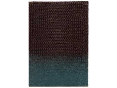 Surya DipGeo Rectangular Dark Brown, Teal & Tan Area Rug