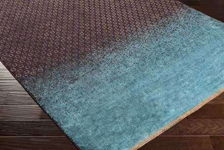 Surya DipGeo Rectangular Dark Brown, Teal & Tan Area Rug