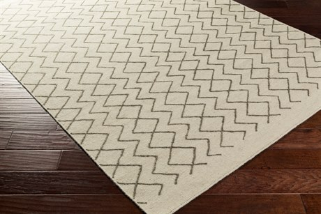 Surya Dasher Rectangular Dark Brown & Cream Area Rug