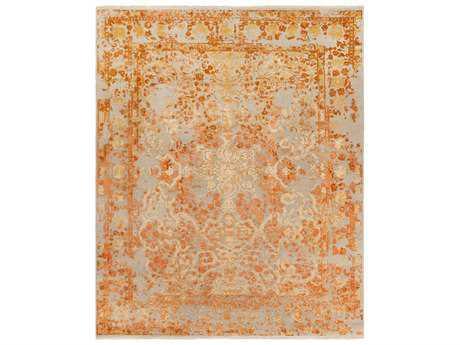 Surya Desiree Rectangular Beige, Peach & Bright Orange Area Rug