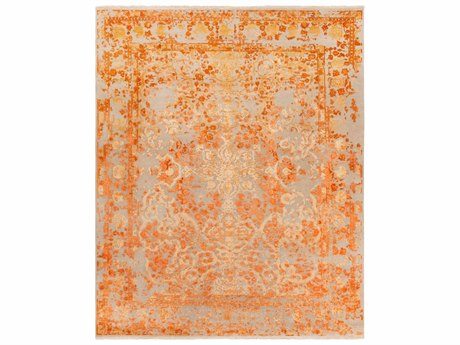 Surya Desiree Rectangular Beige, Peach & Bright Orange Area Rug