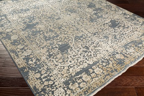 Surya Desiree Rectangular Medium Gray, Cream & Wheat Area Rug