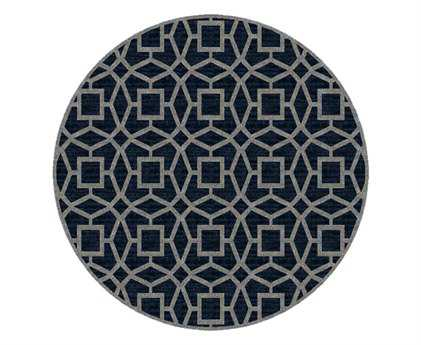 Surya Dream 8' Round Blue Area Rug