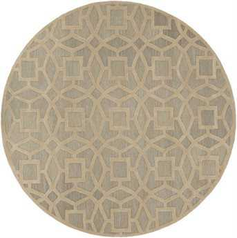 Surya Dream 8' Round Beige Area Rug