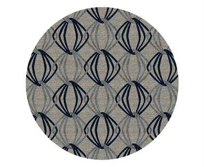 Surya Dream 8' Round Gray Area Rug